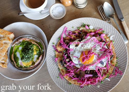 Breakfast at Pigeon Hole Bakery in Hobart Tasmania
