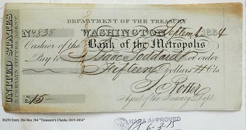 cut-cancelled treasury checks NARA #18340901