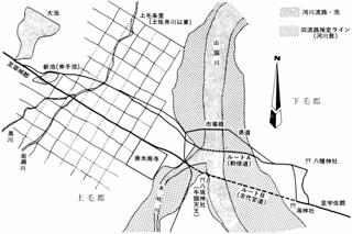 推定「宇佐路」山国川周辺ルート概念図