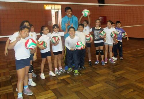 Taller de Voleibol Infantil, Colegio Leonardo Murialdo