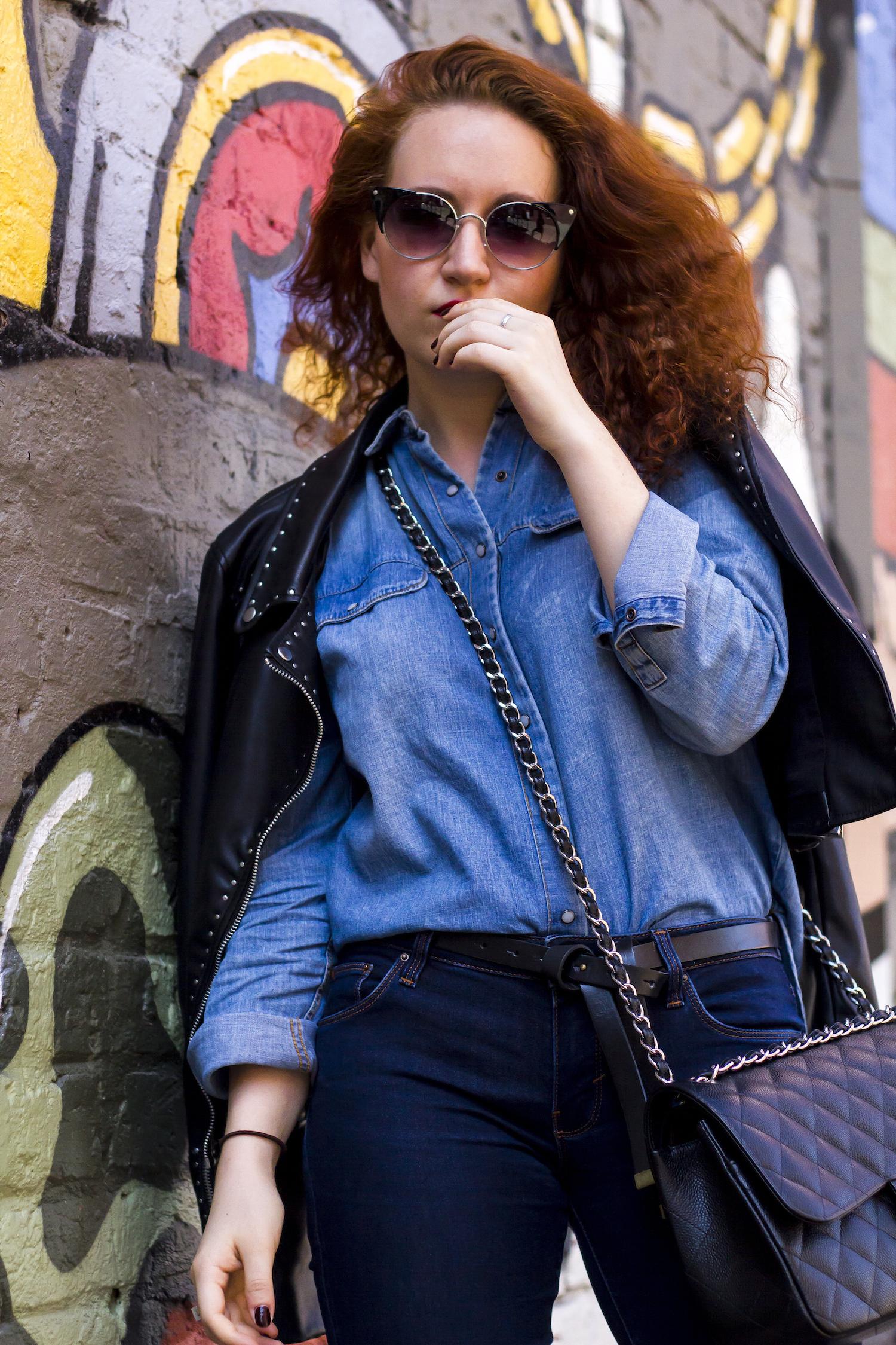 enn franco says fashion blog zara jacket chanel bag prada heels outfit