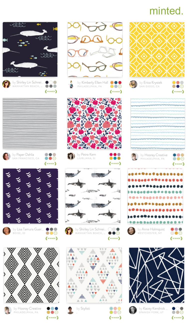 Minted Fabric Collage