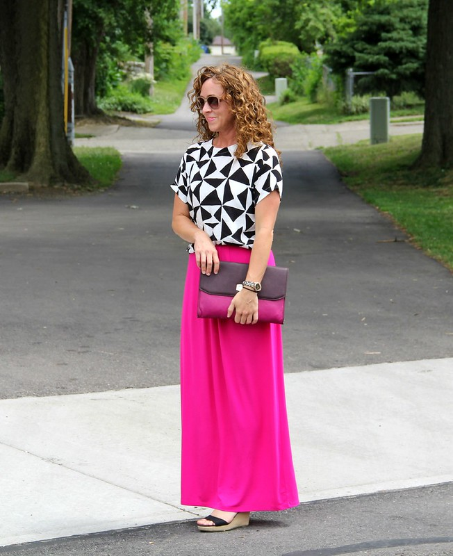 modest summer maxi outfit via kristinaj blog