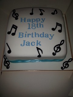 Musical note 18th birthday cake | by platypus1974