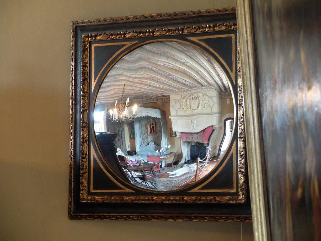 Chambre du roi miroir ch teau de montpoupon commune for Miroir 3 pans
