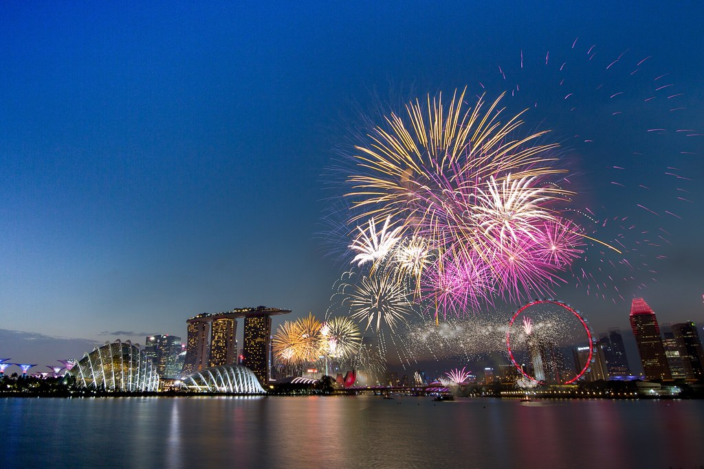 ndp fireworks rehearsal from garden by the bay east by sgananthan