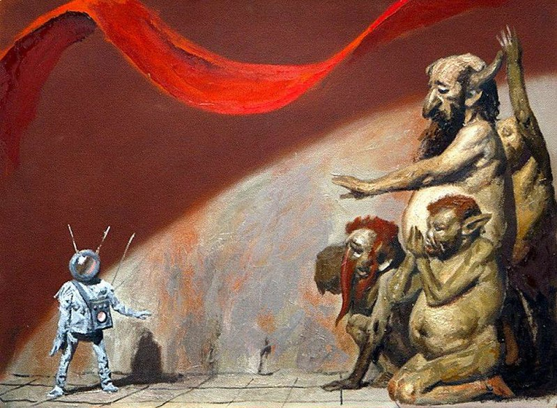 Geli Korzhev - Tyurlikov And Alien, 1981