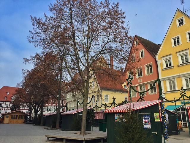 Mercado navideño de Nordlingen (Norte de Baviera, Alemania)