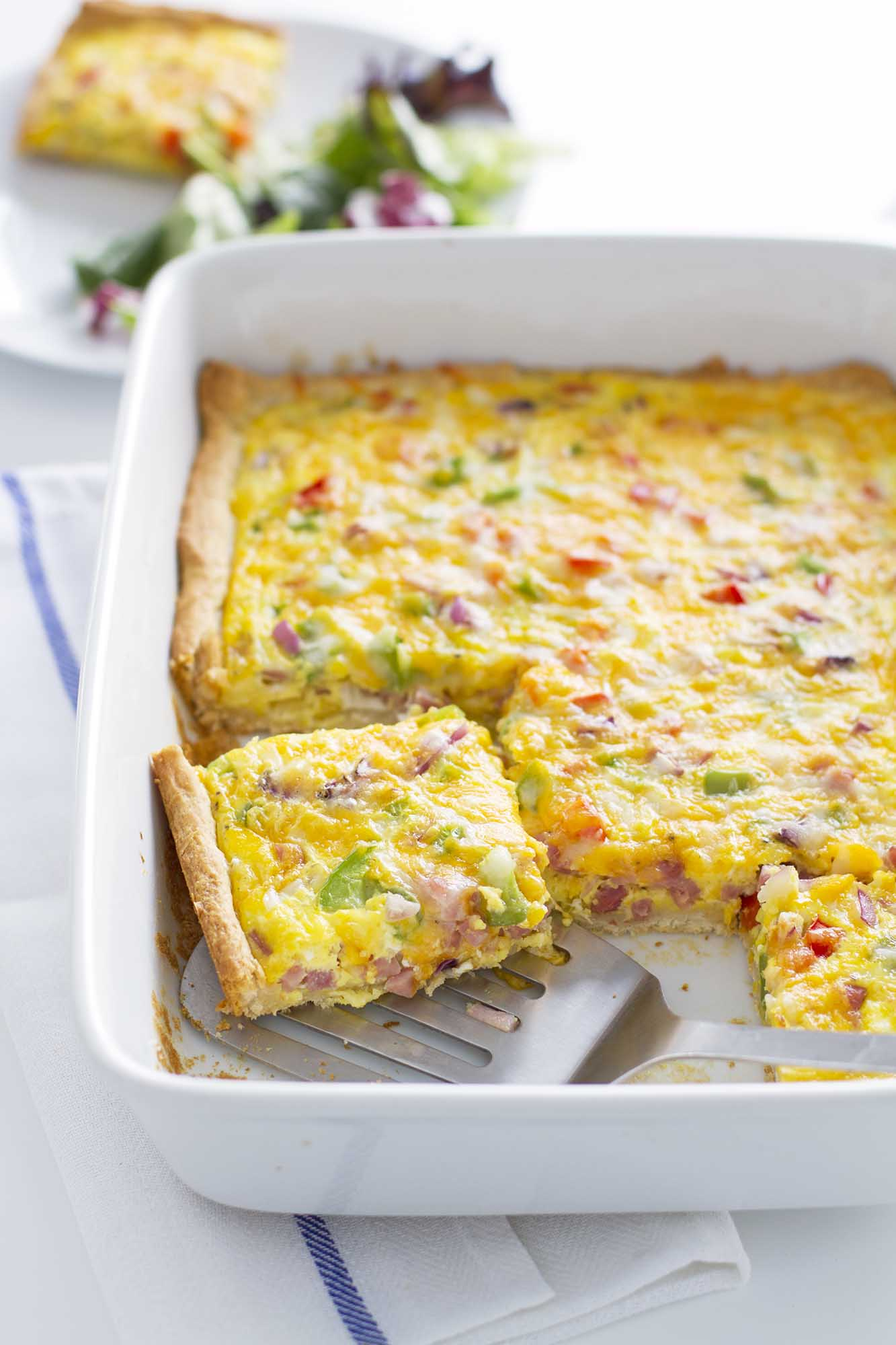 Denver Omelette Crescent Bake | girlversusdough.com @girlversusdough