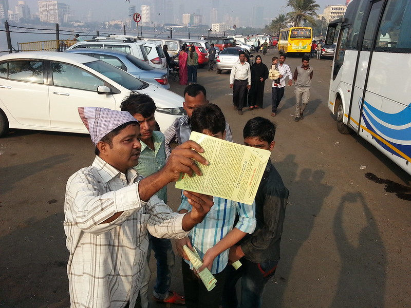 2017-January-18-LEAFLETING- Mission Activities at Haji Ali Mausoleum, Mumbai, India