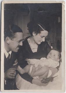Aleksander con Ola e il piccolo Andrzej nel 1931