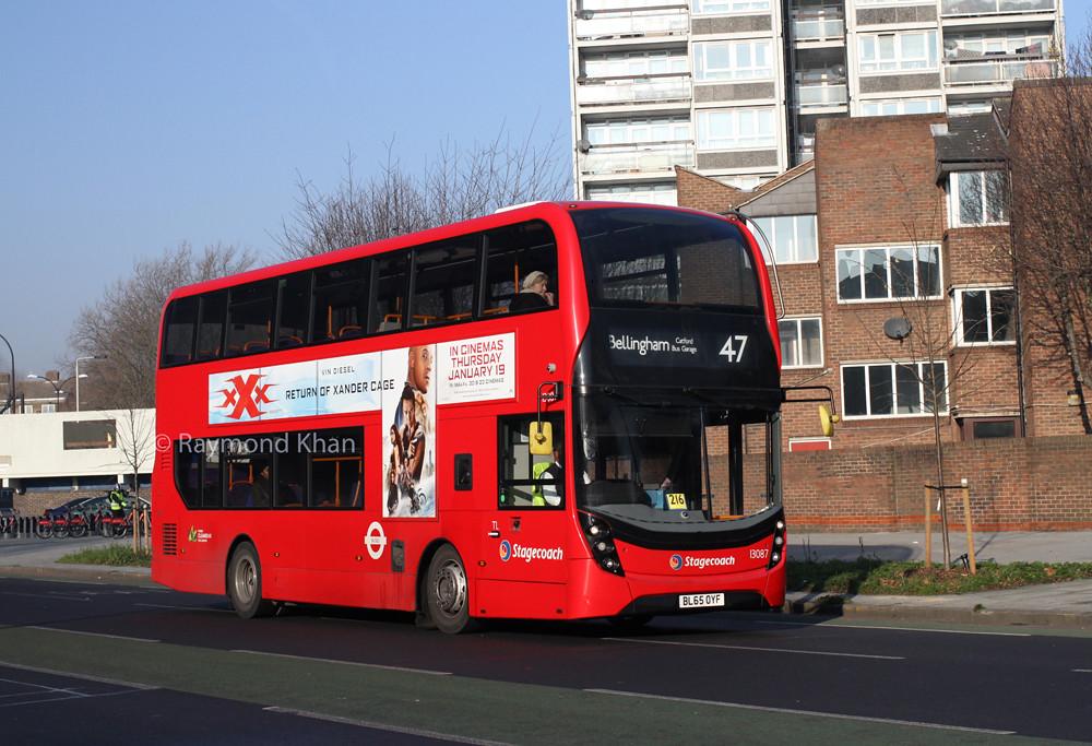 ... 13087 BL65OYF (Stagecoach London) Bermondsey 22.1.17 | by Rays Bus  Photographs