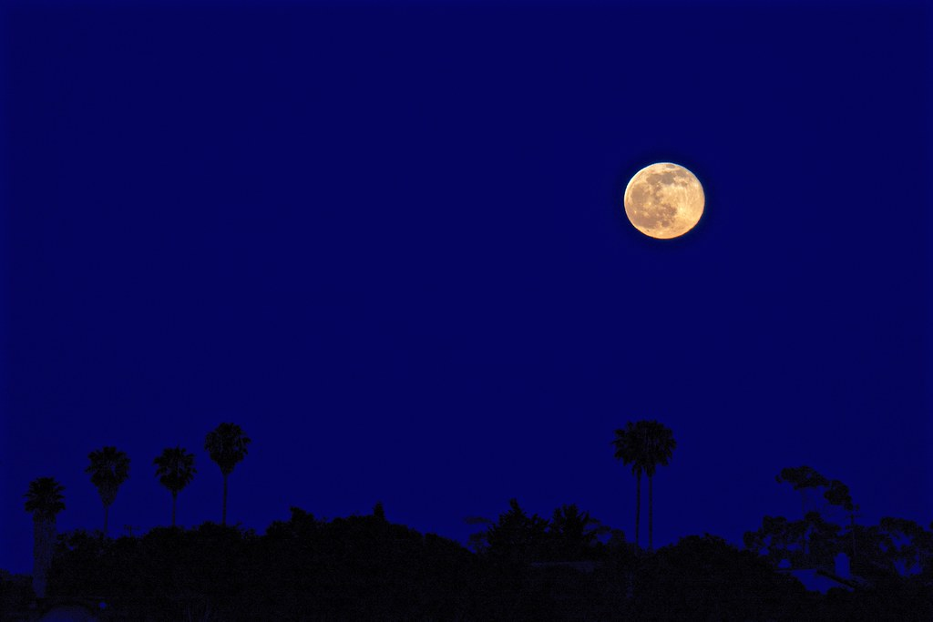 Full Strawberry Moon: 2 June 2015, taken from Goleta