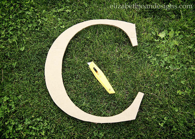 Cardboard Cut Out Letter