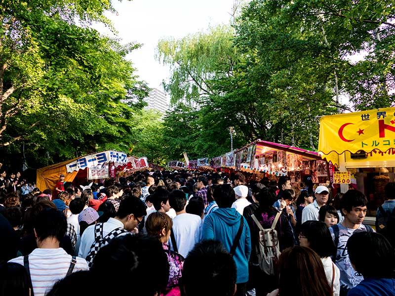 中島公園・・・さっぽろ祭り