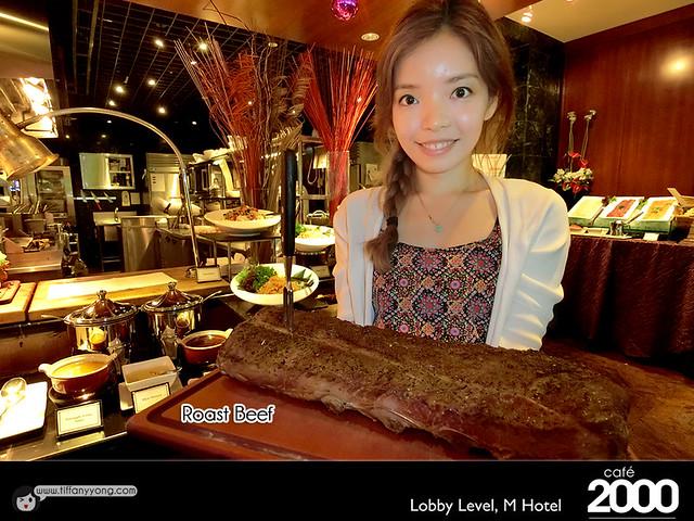 M Hotel Cafe 2000 Christmas Buffet Tiffany Yong