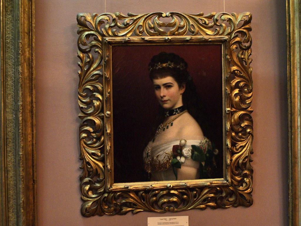 Portrait de Sissi par le peintre Georg Raab.