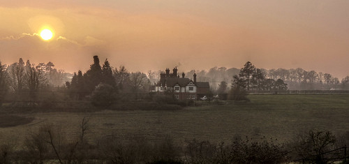 Eastbury Manor at Sunset