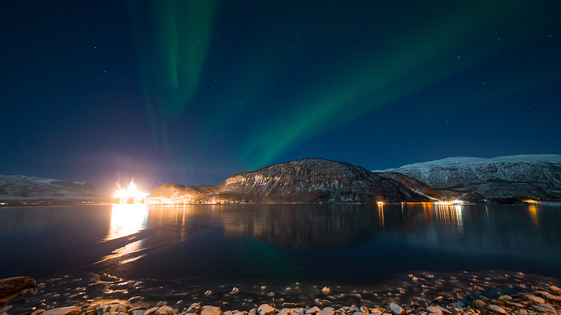 Aurora over Olavsvern in Tromsø
