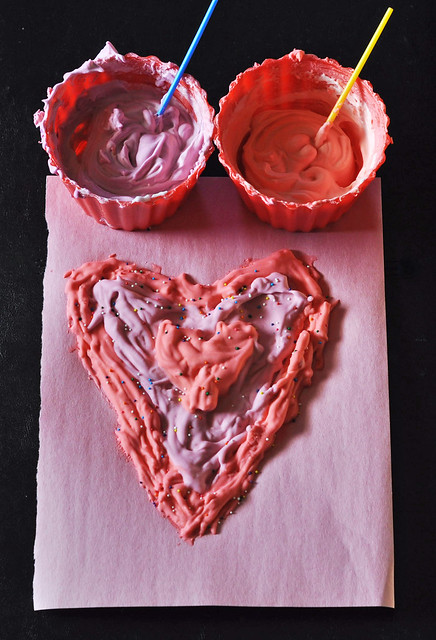 Puffy Paint Hearts
