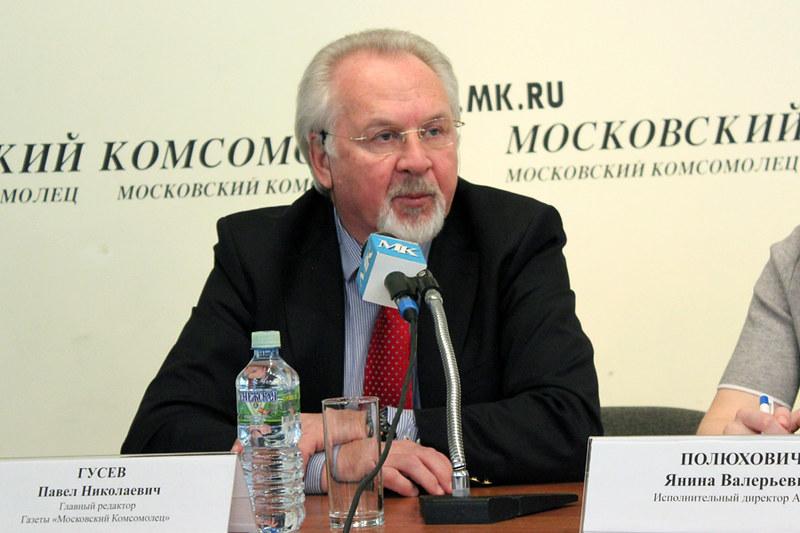 П.Н. Гусев, «Московский комсомолец», Союз журналистов Москвы