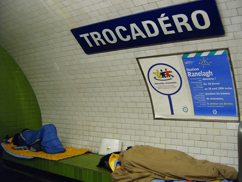 Homeless Sleeping At Trocadero Metro Station From My
