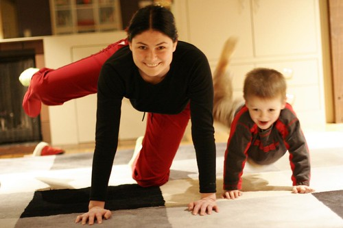 mother and son practice pilates for pregnancy - _MG_2985.JPG | by sean dreilinger