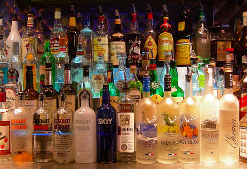 Bottles at a Bar -- Creative Commons | by Edwin Land