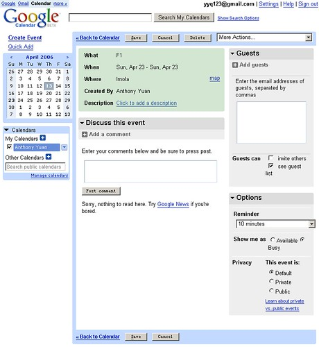 google calendar edit event flickr. Black Bedroom Furniture Sets. Home Design Ideas