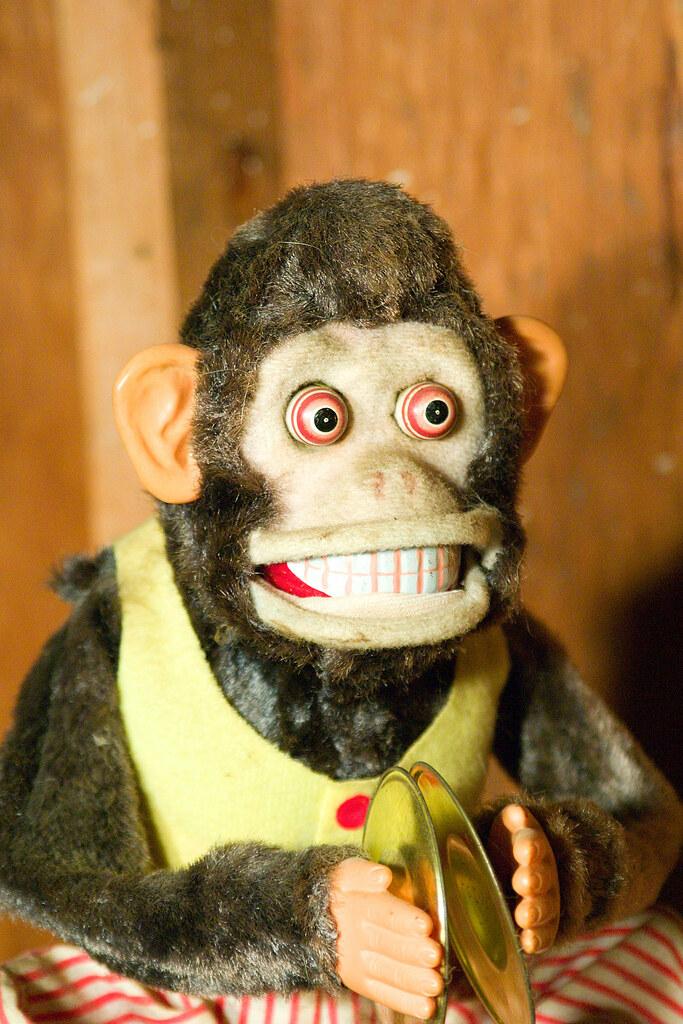 Plastic Sock Monkey Cake Topper