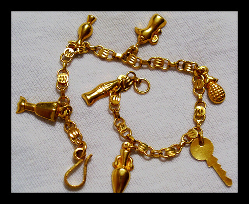 Golden Charm Bracelet | by bunnimai