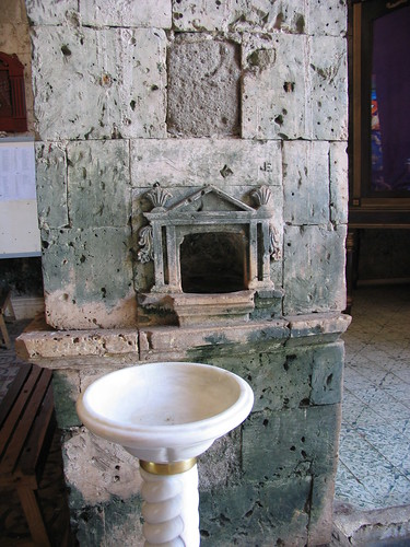 Bantayan church holy water font | by adlaw