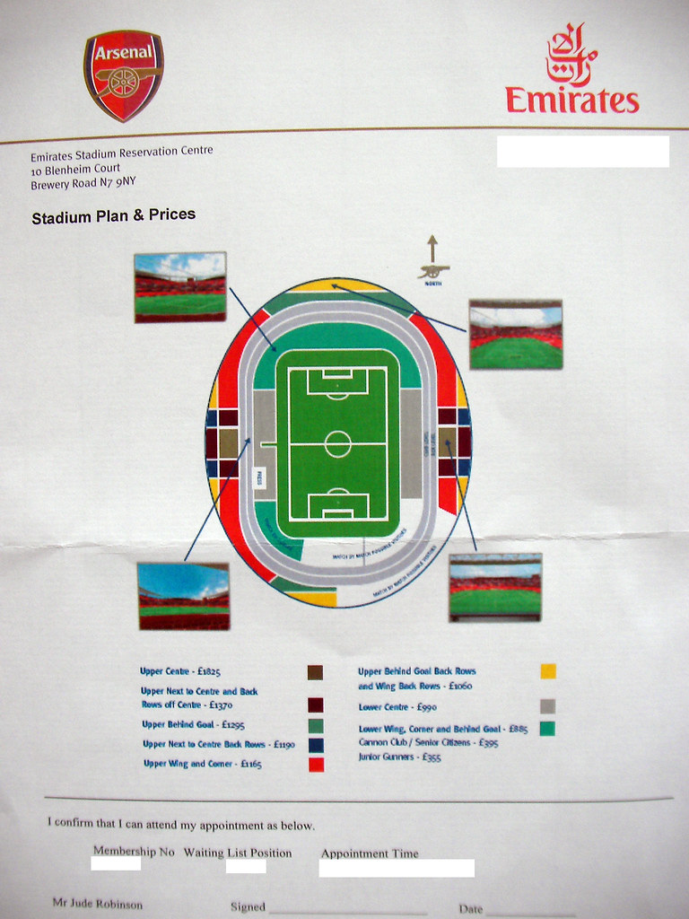 Emirates Stadium Seating Plan View Emirates Stadium Seating