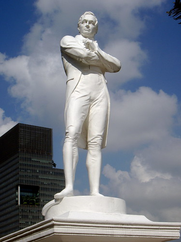 Stamford Raffles's career and contributions to Singapore