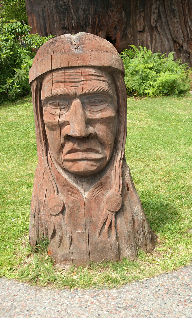 Redwood indian bust redwoods northern california flickr