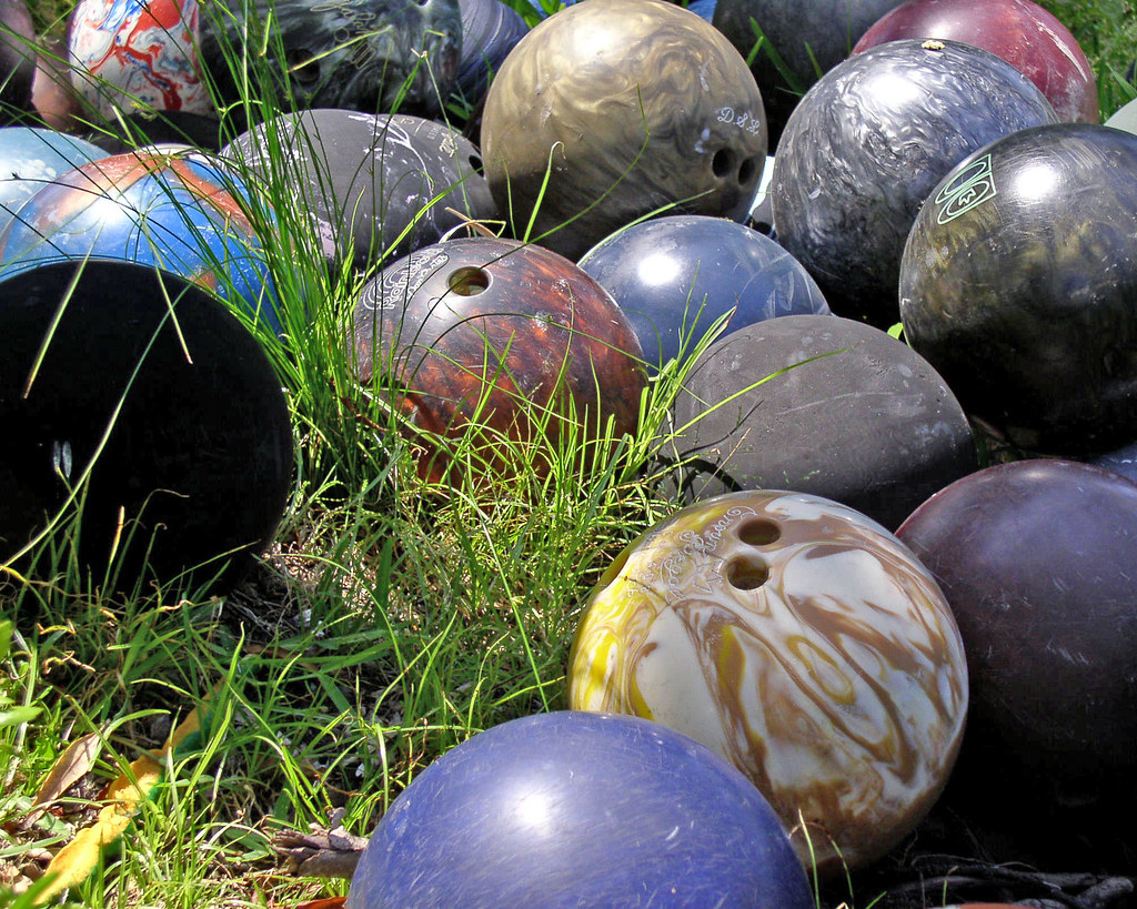 Bowling Ball Graveyard Where Old Bowling Balls Go When The Flickr
