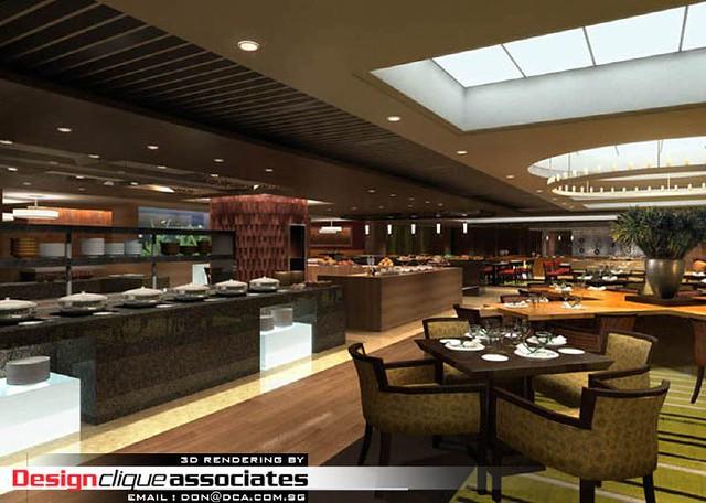 D restaurant design rendering designer hirsch bedner