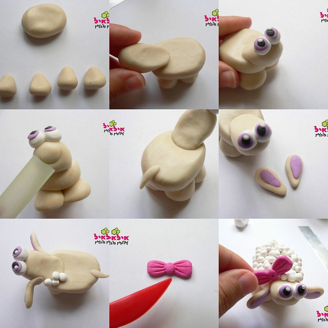 How to sculpture a fimo sheep   Flickr - Photo Sharing!