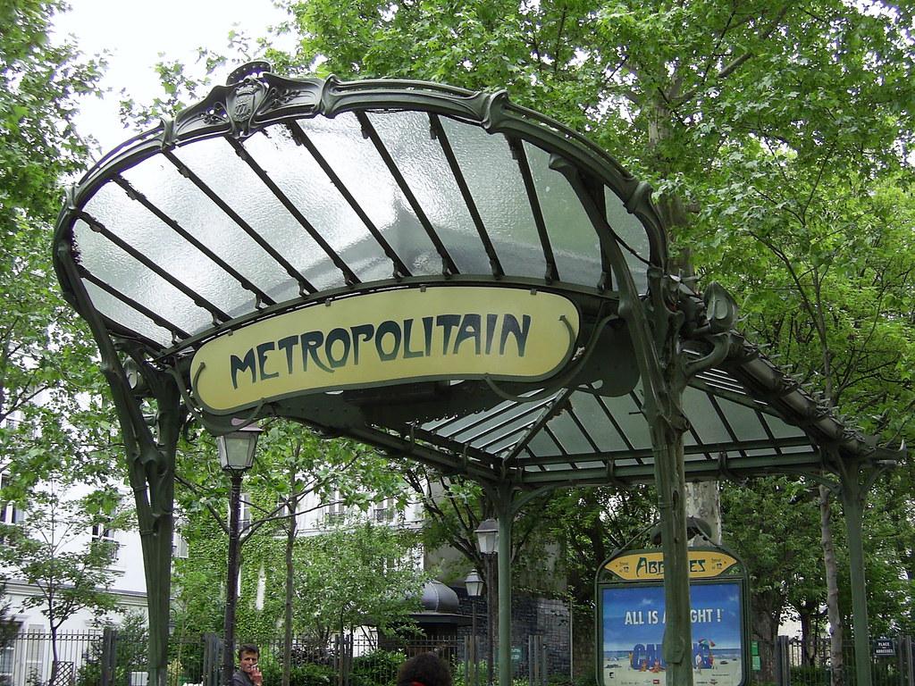 Art Nouveau station entrance, Paris Metro | The canopy at Ab… | Flickr