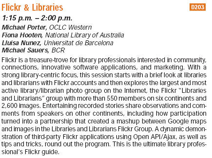 Flickr & Libraries at the Internet Librarian 2006 Conference | by libraryman