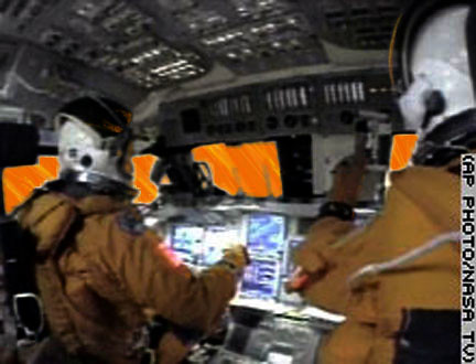 space shuttle reentry cockpit view - photo #13