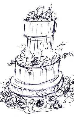 Cake Images Sketch : wedding-cake-decoration-sketch thebaker.com Flickr