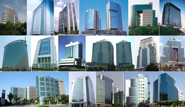 modern buildings of india flickr