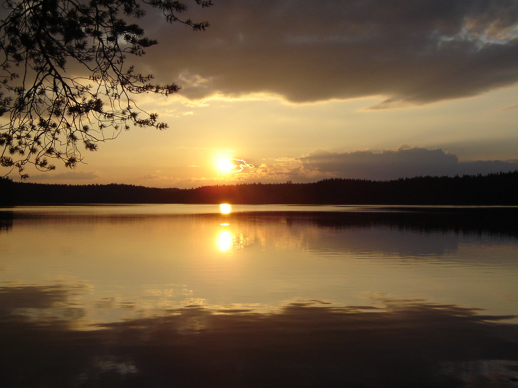 Beautiful Sunset In Sweden Beautiful Sunset Behind A