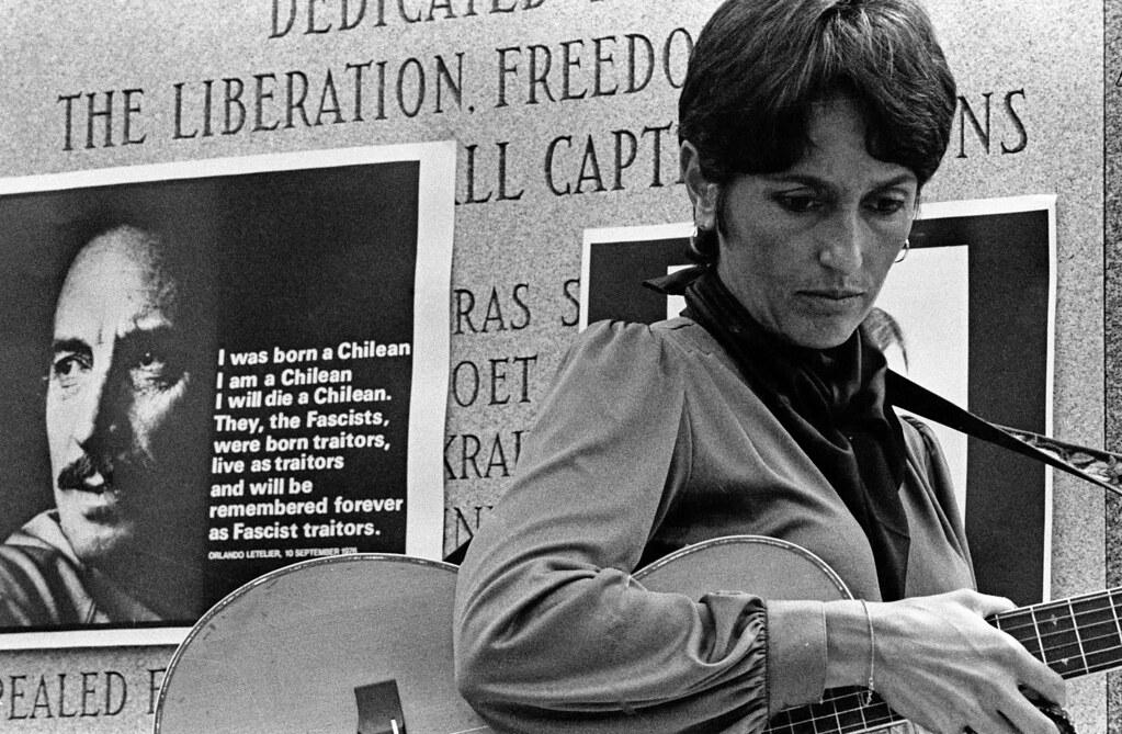 Joan Baez, Orlando Letelier Funeral, Washington DC 1976 | by Marcelo  Montecino