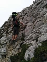 Leichte Kletterei ab dem Antoniusjoch