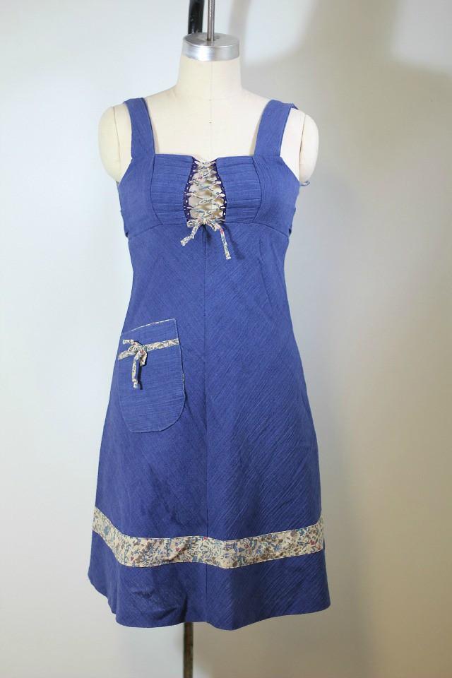 70s chambray dress