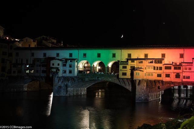 Ponte Vecchio plus moon plus Venus plus Mars