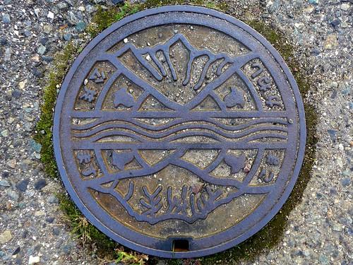 Komagane Nagano, manhole cover 2 (長野県駒ケ根市のマンホール2)