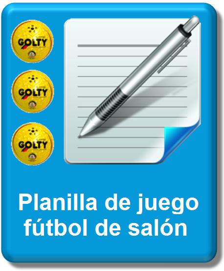 icono planilla oficial futsal